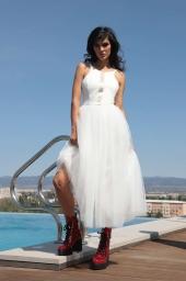 Дълга рокля с тюл