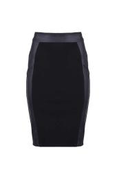 Черна пола с кант от промазка