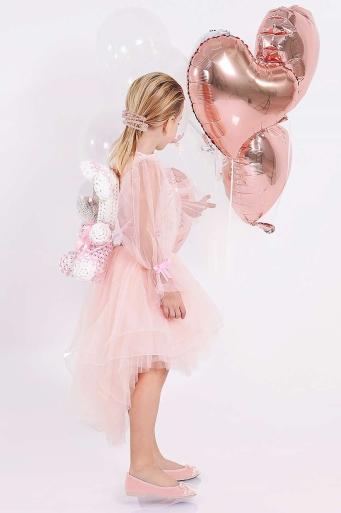 Детска Блуза с ръкави от тюл