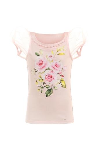 Блуза с флорален принт