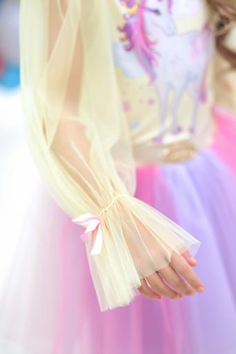 Детска блуза с Еднорог с дълъг, прозрачен ръкав