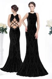 Официална рокля с камъни