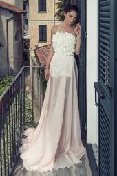 Дамска елегантна рокля с голи рамене