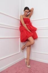Къса рокля от тюл